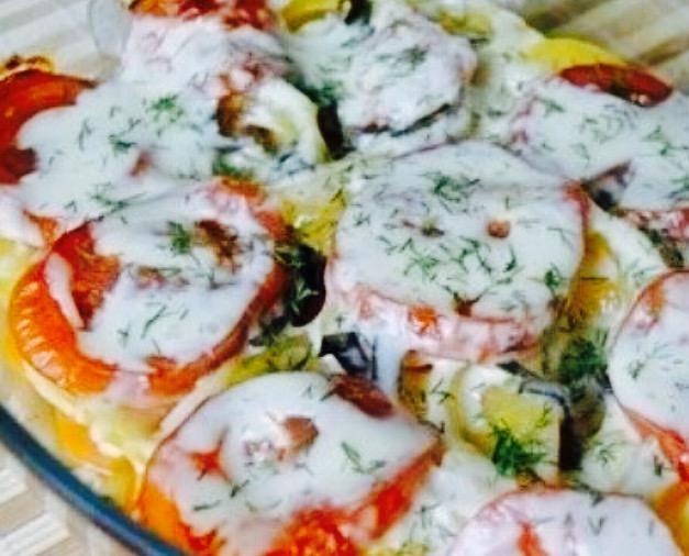Рецепт овощной запеканки с сыром
