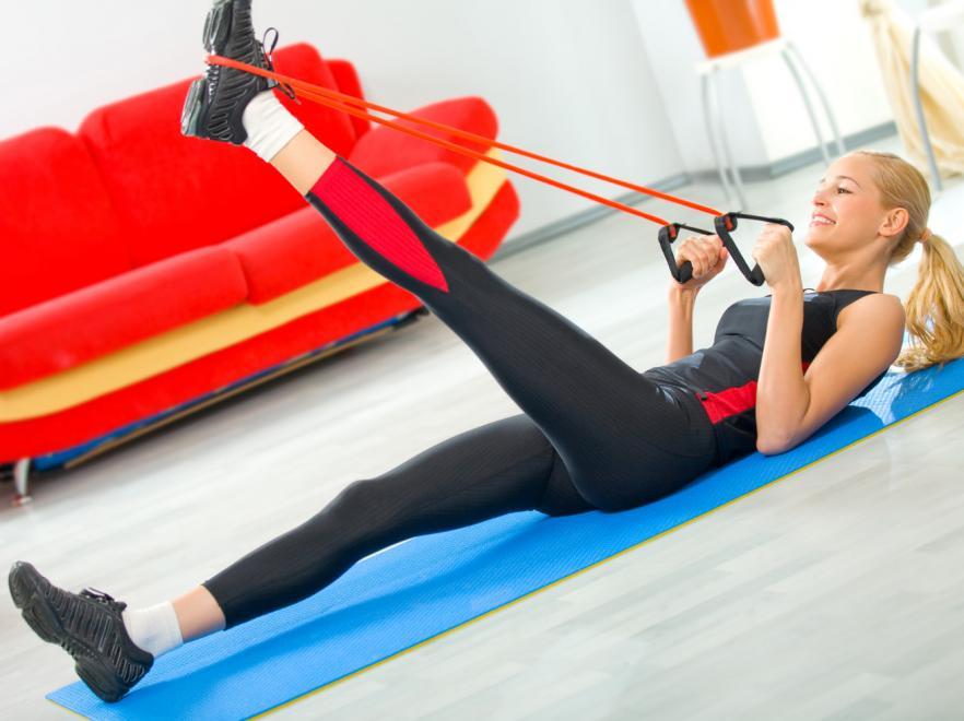 тренировка мышц эспандером