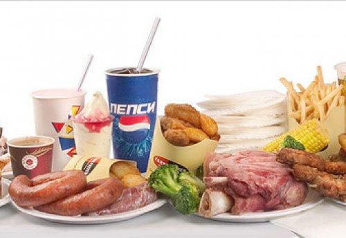 употребление вредной еды