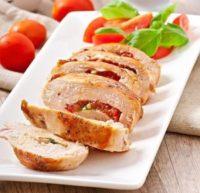 Куриные грудки с томатами и базиликом