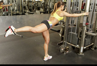 упражнения отведение ноги назад