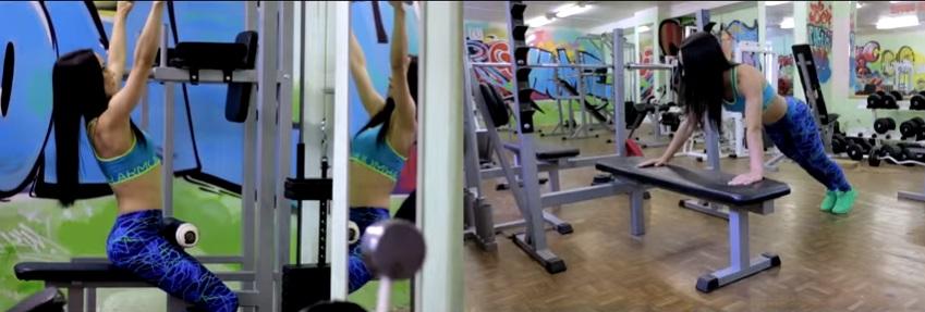 Видео упражнений на руки, спину, плечи и грудь для девушек в тренажерном зале
